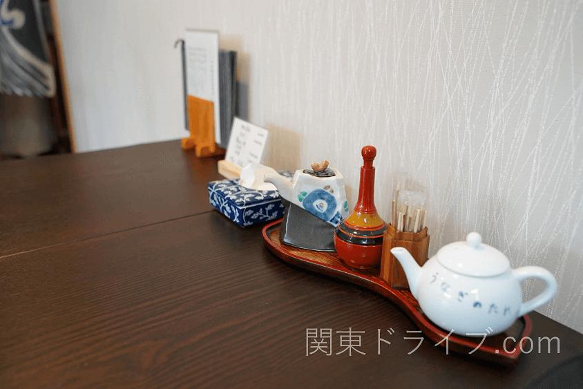 小田原うなぎ「友栄」のテーブルウェア